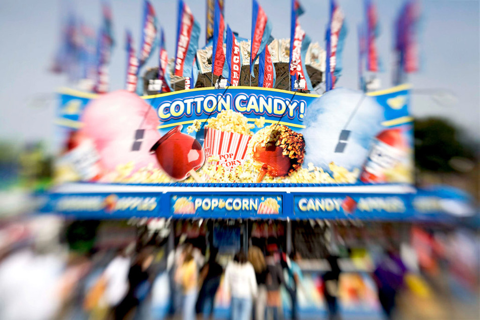 Cotton Candy vendor at the NC State fair by Willa Stein