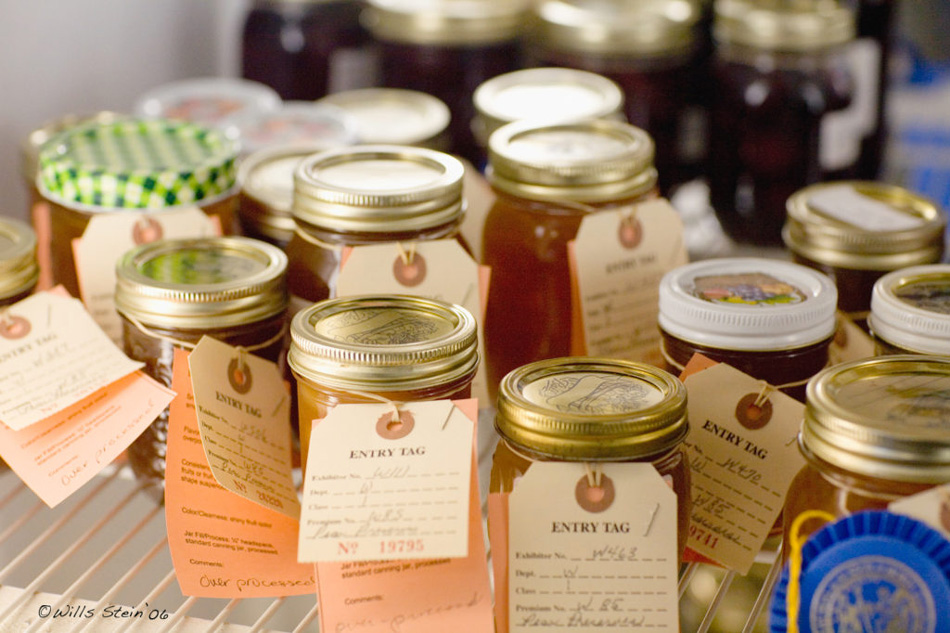 Photo of best of show jars at the NC state fair.