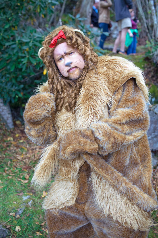 Land Of Oz, North Carolina Park. Photo of a man dressed as the lion from wizard of Oz. Willa Stein Photo