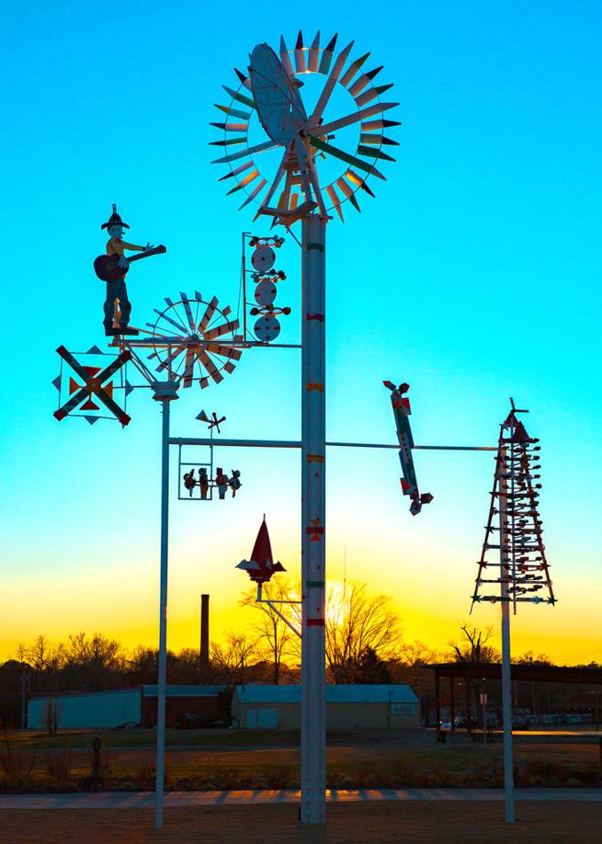 Whirlygig park, Wilson NC Vollis Simpson. Photo by Willa Stein