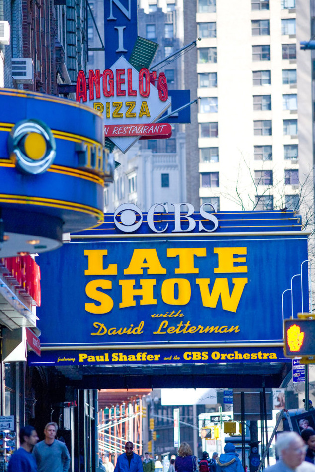 David Letterman Sign in NYC,Late Show. Willa Stein photo