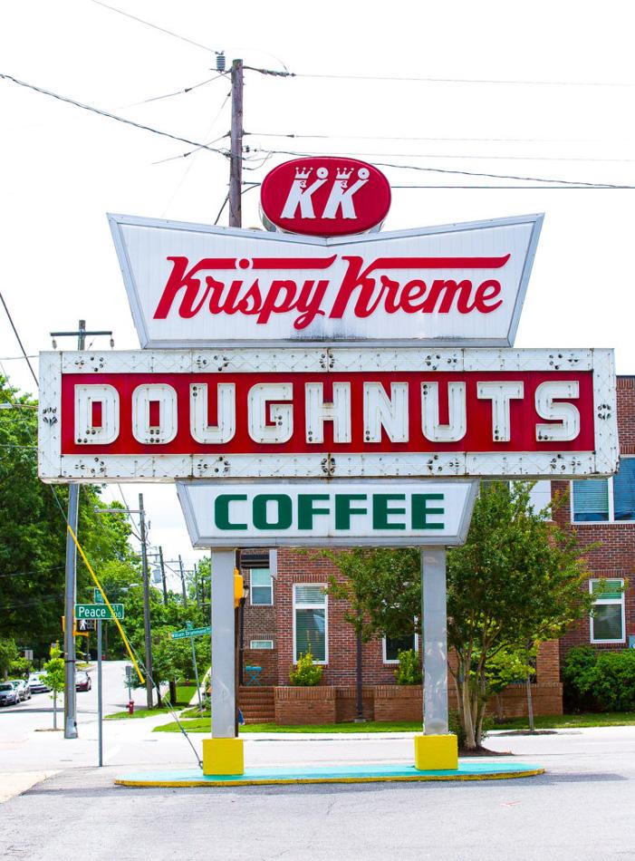 Krispy Kreme Doughnuts sign, Raleigh, NC Willa Stein