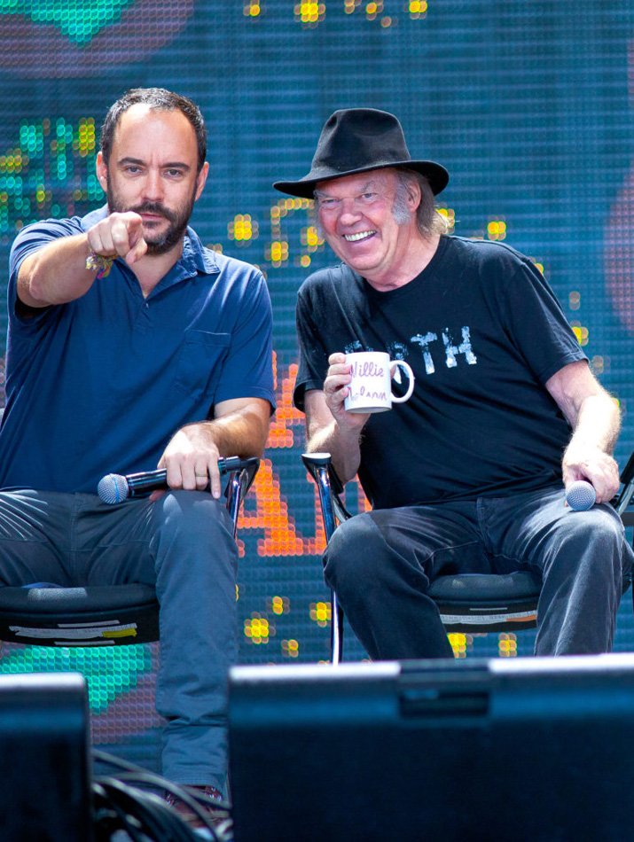 Photo at Farm-Aid Dave Matthews, Neil Young by Willa Stein
